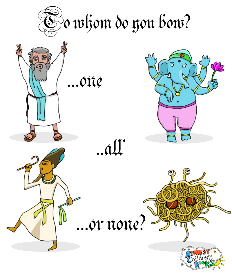 Atheist Children's Books - To whom do you bow?